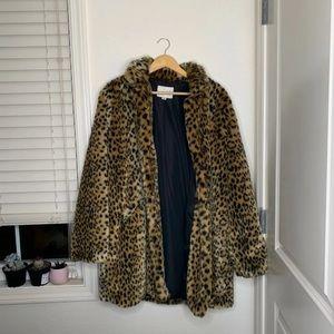 Jackets & Blazers - Faux fur brand new cheetah print coat